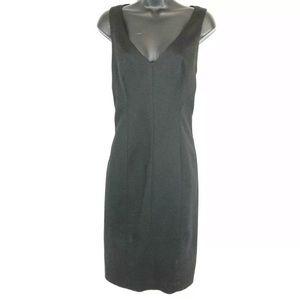 Tahari L Black Light Wool Blend Sleeveless Dress